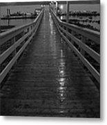 Rainy Evening On The Dock Metal Print