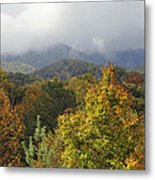 Rainy Fall Day In The Mountains Metal Print