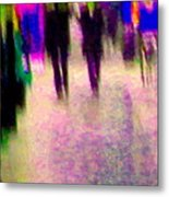 Rainy Night In The City Downtown Evening Stroll Through The Puddles Montreal Art Carole Spandau Metal Print