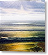 Rainy Seascape Metal Print