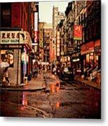 Rainy Street - New York City Metal Print by Vivienne Gucwa