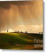 Rainy Sunny Toscany Metal Print