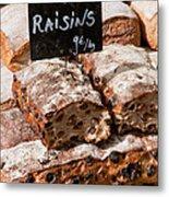 Raisin Bread Metal Print