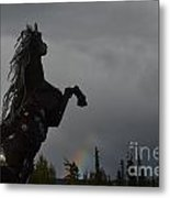 Raising Rainbows Metal Print