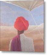 Rajasthan Farmer, 2012 Acrylic On Canvas Metal Print