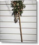 Rake And Wreath Metal Print