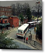 Raleigh Bus Terminal - Evening Metal Print by Paulette B Wright