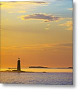 Ram Island Lighthouse Casco Bay Maine Metal Print