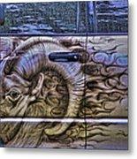 Ram On Ram Metal Print
