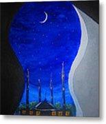 Ramadan Moon Metal Print by Haleema Nuredeen