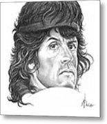Rambo-sylvester-stallone Metal Print by Murphy Elliott