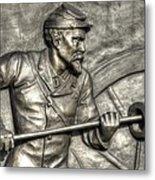Ramming The Charge. Detail-c 1st New York Light Artillery Fitzhughs Battery K Gettysburg Metal Print