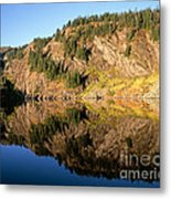 Rampart Ridge In Rachael Lake Metal Print