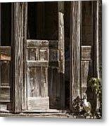 Ranch Cabin Old Door In Antique Color 3007.02 Metal Print