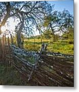 Ranch Fence Metal Print
