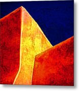 Ranchos In Orange And Yellow Metal Print by Carol Leigh