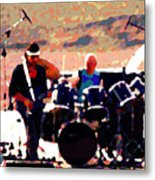 Randy And Ed And The White Elephant Metal Print