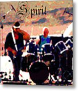Randy And Ed And The White Elephant With Text Metal Print