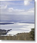 Rangeley Maine Winter Landscape Metal Print by Keith Webber Jr