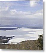 Rangeley Maine Winter Landscape Metal Print