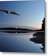 Rangeline Lake Metal Print by RJ Martens