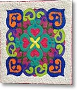 Rangoli Made With Powder Colour Metal Print
