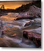 Rapids At Dawn Metal Print