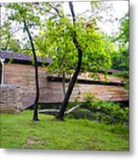 Rapps Covered Bridge Over French Creek Metal Print
