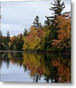 Raquette River Reflections Metal Print