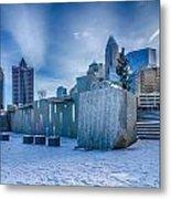 Rare Winter Scenery Around Charlotte North Carolina Metal Print