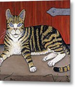 Rascal The Cat Metal Print