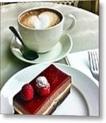 Raspberry Delice And Latte Metal Print