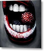 Raspberry Metal Print by Kalie Hoodhood