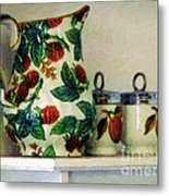 Raspberry Pitcher Metal Print