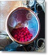 Raspberry Reflections Metal Print