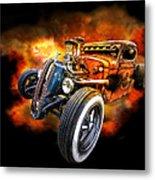 Rat Rod Explosion Metal Print