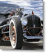 Rat Rod On Route 66 2 Panoramic Metal Print
