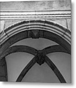 Rathaus Arch Bw Cologne Germany Metal Print