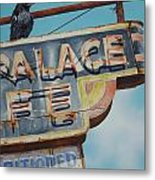 Raven And Palace Metal Print