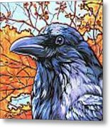 Raven Head Metal Print by Nadi Spencer