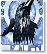 Raven Illustration Metal Print