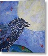 Raven Speak Metal Print