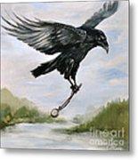 Raven Stealing Time Metal Print