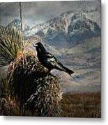 Raven Storm Metal Print
