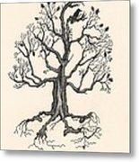 Raven's Magic Oak Metal Print