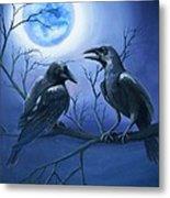 Raven's Moon Metal Print