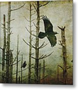 Ravens Of The Mist Artistic Expression Metal Print