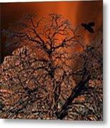 Ravens Tree Metal Print