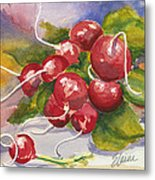 Ravishing Radishes Metal Print