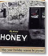 Raw Desert Honey Christmas Card Florence Arizona 2007 Metal Print